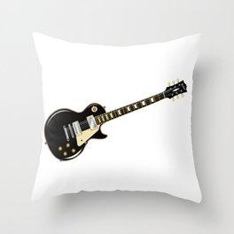 Rock Standard Guitar Throw Pillow