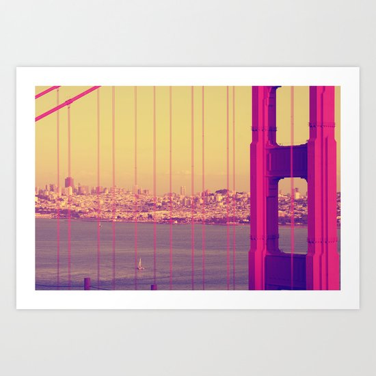 Golden Gate Into San Francisco Art Print