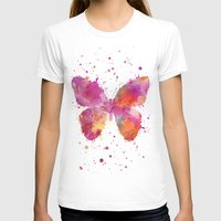 artsy T-shirts featuring Artsy Butterfly by LebensART