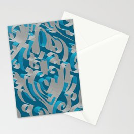 3D Abstract Ornamental Background II Stationery Cards