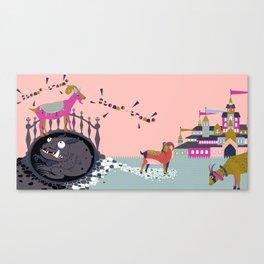 Stomp Tromp Canvas Print