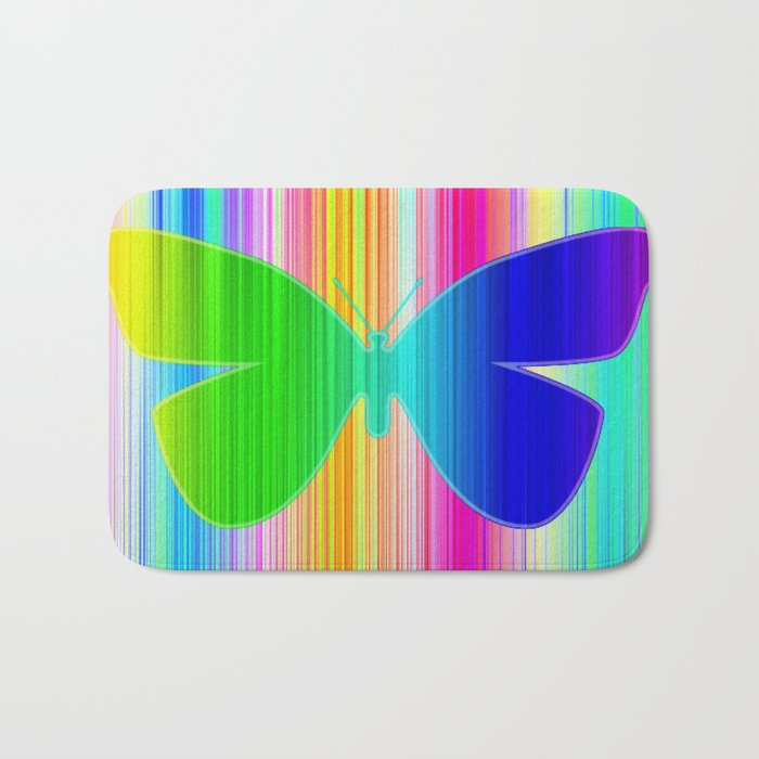 Colored butterfly Bath Mat