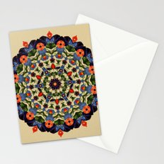 Flower and Fruit Collage Mandala Stationery Cards