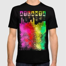So Atlanta - Colorful Skyline View 2X-LARGE Mens Fitted Tee Black