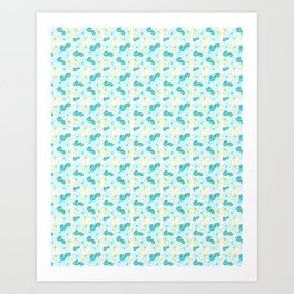 22 Blue Flower Mini Art Print