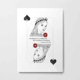 Queen of Spades Metal Print