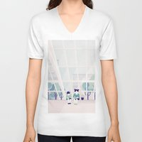 home sweet home V-neck T-shirts featuring Home sweet home by Salome Gautier
