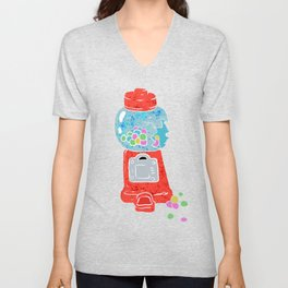 Bubble gum machine. Unisex V-Neck