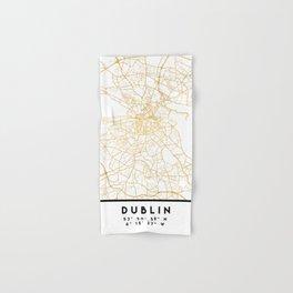DUBLIN IRELAND CITY STREET MAP ART Hand & Bath Towel