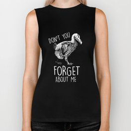 Dodo Don't Forget About Me Funny Extinct Bird Biker Tank