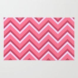 Pink Zig Zag Pattern Rug