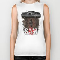 sam winchester Biker Tanks featuring Sam by Six Eyed Monster
