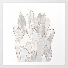 White Crystals Art Print