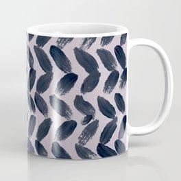 Lake Davinde -  Dark Blue Brush Strokes on lilac Coffee Mug