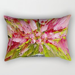 Lady pink abstract pattern Rectangular Pillow