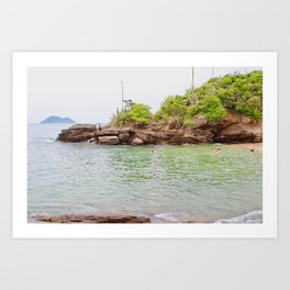 A Quick Cove Dip Art Print