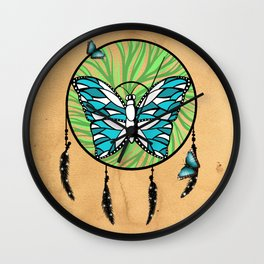 Butterfly Dream-Catcher Wall Clock