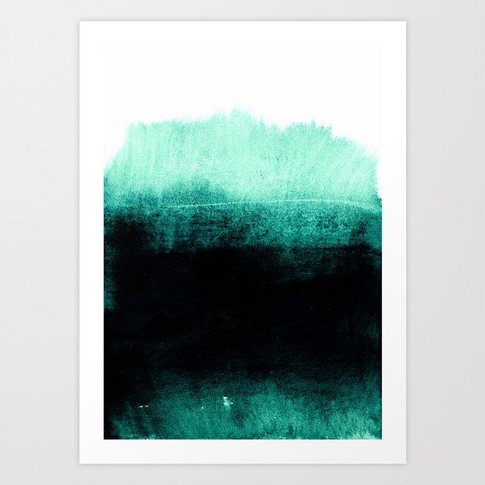 into the deep green Art Print
