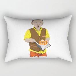 Thought Provoking Kid Rectangular Pillow
