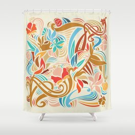 Abstract Florals Shower Curtain