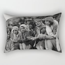 Jazz Age African American 1920's era flappers black and white photograph - art photography Rectangular Pillow