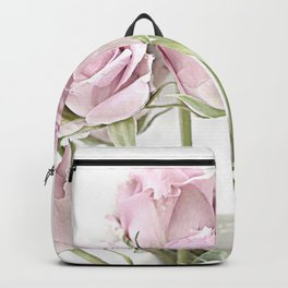 Shabby Chic Pastel Pink Roses Backpack