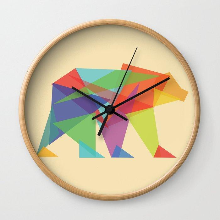 Fractal Geometric bear Wall Clock by budikwan   Society6
