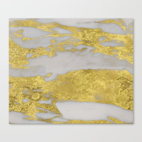 Agria gold marble Canvas Print