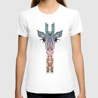 background T-shirts featuring GiRAFFE by Monika Strigel