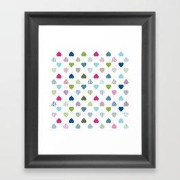 AFE Colorful Hearts Framed Art Print