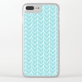 Herringbone Island Paradise Clear iPhone Case