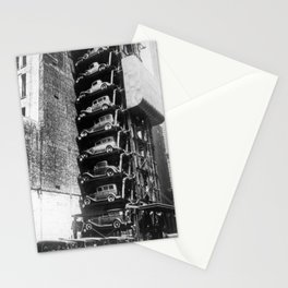 Vertical Parking Lot, 1920s Stationery Cards