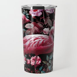 Floral and Flamingo VIII pattern Travel Mug