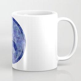 Blue Yin & Yang Mandala Coffee Mug