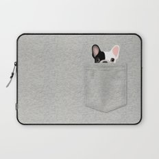 Pocket French Bulldog - Pied Laptop Sleeve
