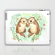 Otters Holding Hands Laptop & iPad Skin