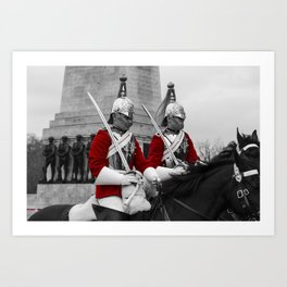 Household Cavalry Changing Of The Guard Art Print
