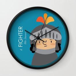A Fighter like Jeanne d'Arc Wall Clock