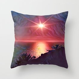 Lake Toba Throw Pillow