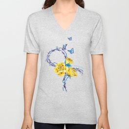 Ribbon | Endometriosis awareness Unisex V-Neck