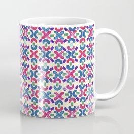 Chain Rubber Stamp Pattern Design (Light Yellow Background) Coffee Mug