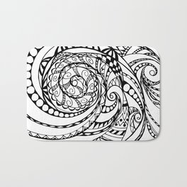 tangle geometric zen pattern Bath Mat