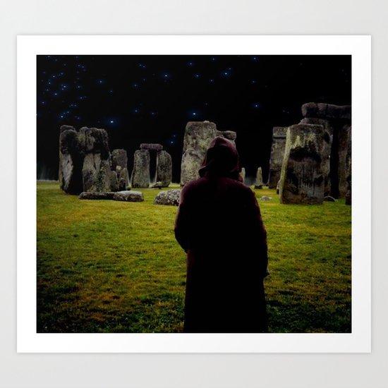 Druid Princess of Stonehenge Art Print