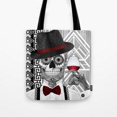 Mr J.D. Vanderbone - 1920s Sugar Skull Art - Copyrighted Tote Bag