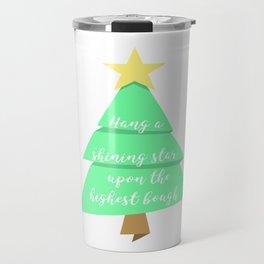 Shining Star Christmas Tree Design Travel Mug