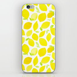 Beautiful Lemon Pattern iPhone Skin