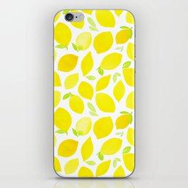Beautiful Lemon Pattern iPhone Skin