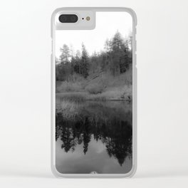 REFLECTING PEACE Clear iPhone Case