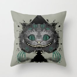 Cat of Spades Throw Pillow