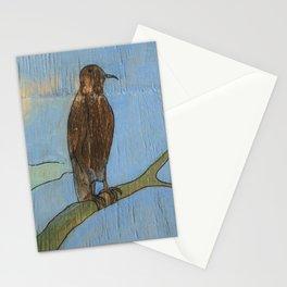 Bird on a branch Stationery Cards
